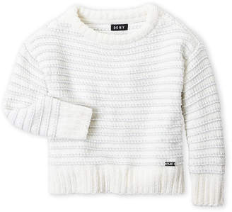 DKNY Toddler Girls) Metallic Stripe Sweater