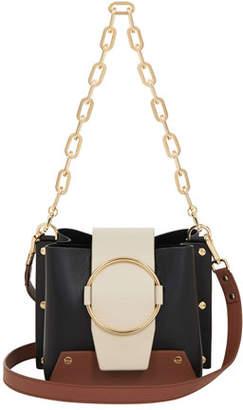 Yuzefi Delila Colorblock Leather Ring Bucket Bag