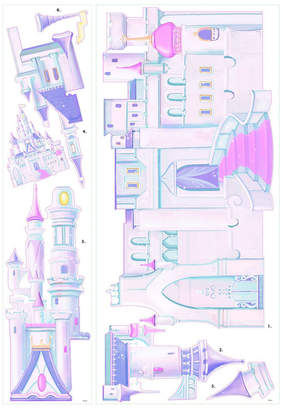 York Wall Coverings York Wallcoverings Disney Princess - Princess Castle Peel and Stick Giant Wall Decal
