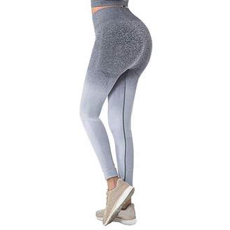 e40ca18e0e939 Puimentiua Yoga Pants Seamless Gym Leggings High Waist Pants Women's Fitness  Sweatpants Tights.