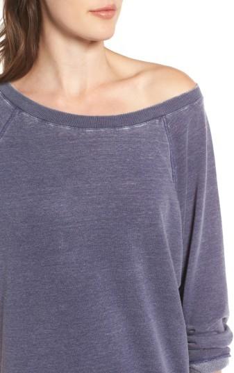 Women's Treasure & Bond Off The Shoulder Fleece Knit Dress 5