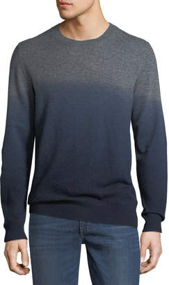 Neiman Marcus Men's Cashmere Dip-Dyed Sweater