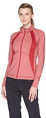 Cutter & Buck Women's Smooth Melange Stripe Shoreline Colorblock Full Zip Jacket