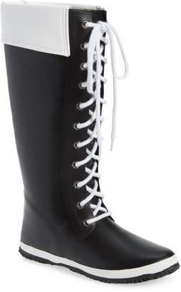 dav Lace-Up Waterproof Rain Boot