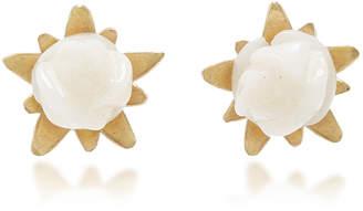 Annette Ferdinandsen White Coral Rose Studs