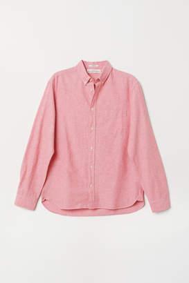 H&M Regular Fit Oxford Shirt - Red