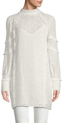IRO Women's Mijo Ruffled & Textured Sheer Dress