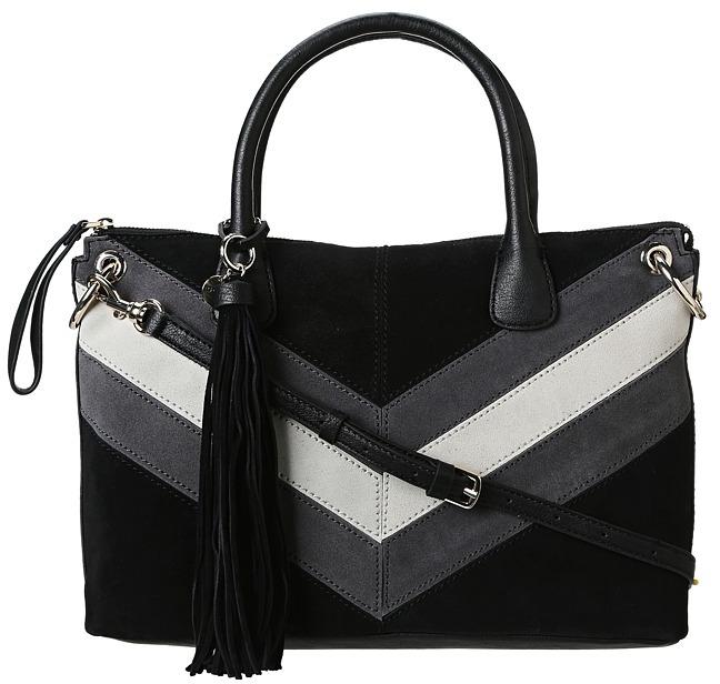 GUESS Nakieta Dizzy Satchel (Black Multi) - Bags and Luggage