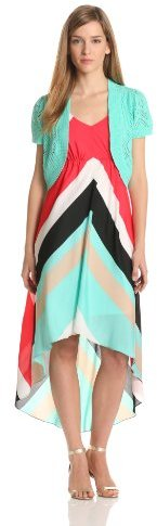 Amy Byer Women's Sleeveless V-Neck Dress With Bolero