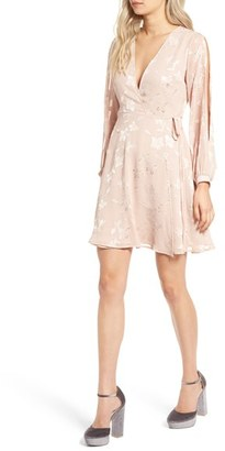 Women's Astr The Label Burnout Wrap Dress $85 thestylecure.com