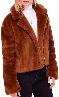 Free People Mena Faux-Fur Coat
