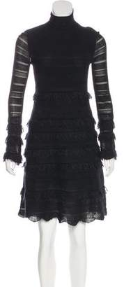 Alexander McQueen Long Sleeve Knit Dress