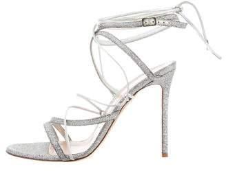 Gianvito Rossi Glitter Wrap-Around Sandals