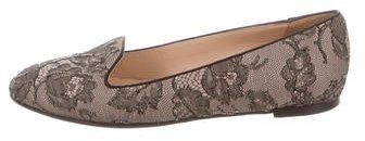 Valentino Valentino Embellished Lace Loafers