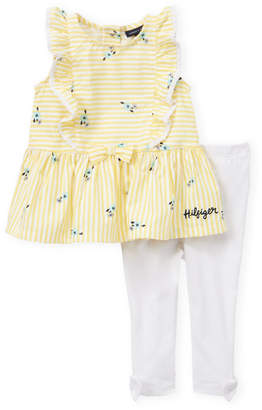 a7068894 Tommy Hilfiger Newborn Girls) Two-Piece Floral Tunic & Leggings Set