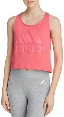 adidas Sport ID Logo Cropped Tank