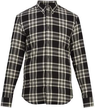 Maison Margiela Point-collar checked cotton shirt