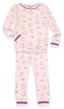 Hatley Little Girl's & Girl's Precious Penguins Two-Piece Pajama Set