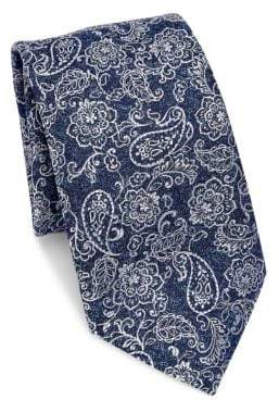 Saks Fifth Avenue COLLECTION Paisley& Floral Silk Tie