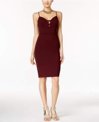 B. Darlin Juniors' Deep V Bodycon Dress