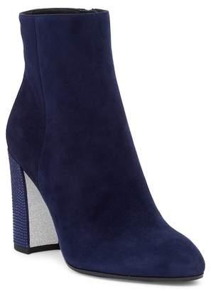 Rene Caovilla Crystal Embellished Block Heel Bootie