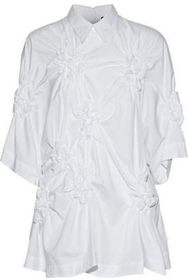 Simone Rocha Ruched Cotton-Poplin Shirt