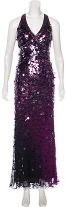 Sue Wong Sequined Maxi Dress