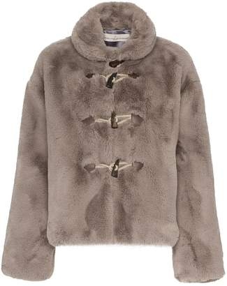 Golden Goose Faux fur satin lined jacket