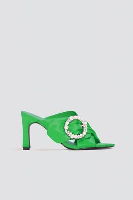 Na Kd Shoes Embellished Heeled Mule Sandals Green