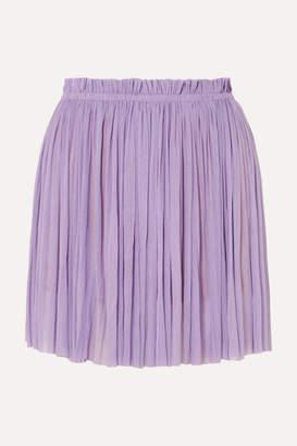 153833933541 Elena Makri - Antigone Pleated Silk-tulle Mini Skirt - Lilac
