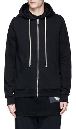 DRKSHDW by Rick Owens Tribal embroidered zip hoodie