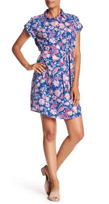 Joe Fresh Floral Linen Blend Shirt Dress