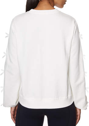 Betsey Johnson Cotton-Blend Side Bow Sweatshirt