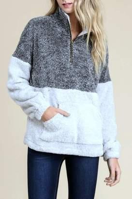 Doe & Rae Fleece Pullover Sweater