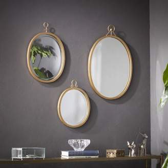 Southern Enterprises Emeterio Decorative Mirror Set, Gold, 3-Piece