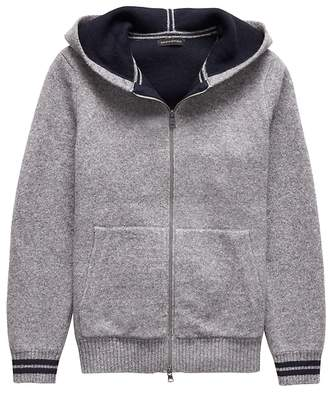 Banana Republic Airspun Full-Zip Sweater Hoodie
