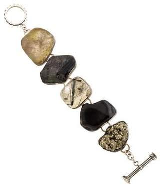 Rebecca Collins Multi Stone Link Bracelet