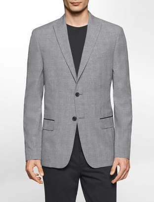 Calvin Klein slim fit glen plaid jacket