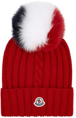 Moncler Fox Fur Bobble Hat