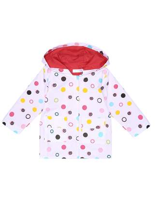 Arshiner Girl Kid Rain Jacket Waterproof Hooded Outwear Raincoat, 90