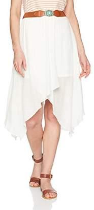 Amy Byer A. Byer Junior's Guaze Wrap Skirt