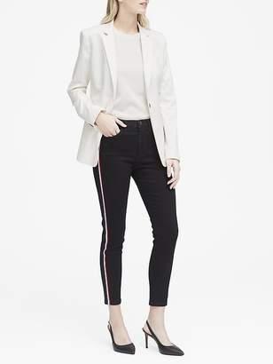 Banana Republic Petite High-Rise Skinny-Fit Side-Stripe Cropped Jean