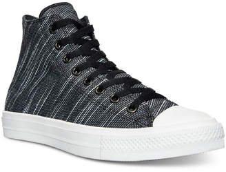 Converse Men's Chuck Taylor All Star Ii Hi Knit Canvas Casual Sneakers from Finish Line