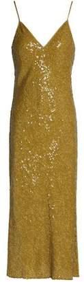 Diane von Furstenberg Sequined Silk Midi Dress