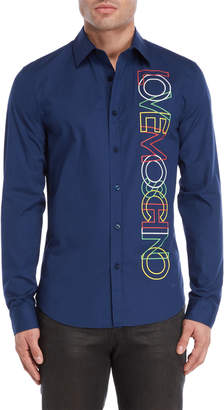 Love Moschino Outline Logo Woven Shirt