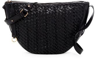 Kooba Sabine Woven Leather Saddle Crossbody $398 thestylecure.com