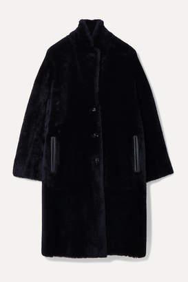 Joseph Brittany Reversible Shearling Coat - Midnight blue