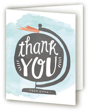The World Is Your Oyster Farewell Party Thank You Cards