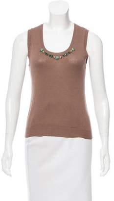 Blumarine Sleeveless Embellished Top