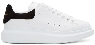 Alexander McQueen White & Black Oversized Sneakers $575 thestylecure.com